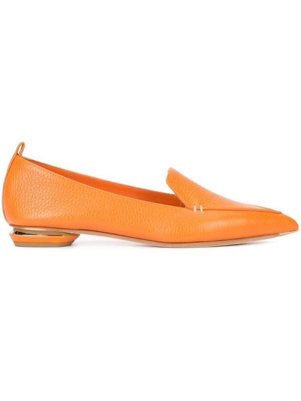 Nicholas Kirkwood 18mm Beya loafers in orange