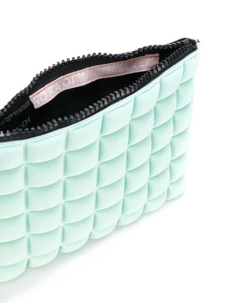 No Ka' Oi waffle-textured clutch bag in blue