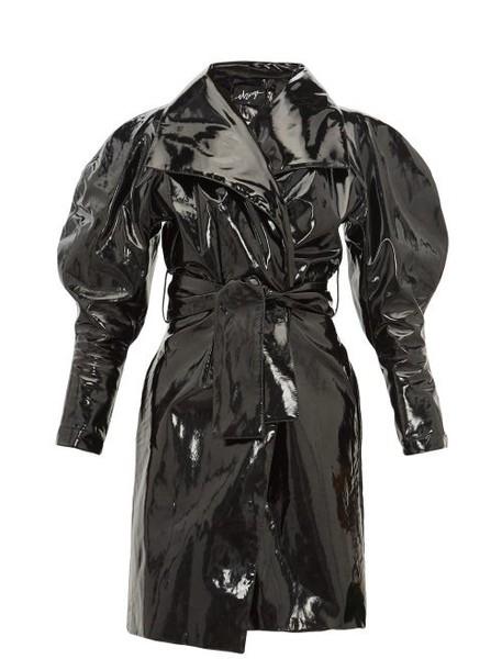 Elzinga - Balloon Sleeve Pvc Trench Coat - Womens - Black
