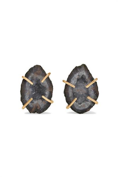 Melissa Joy Manning - Net Sustain 14-karat Gold Agate Earrings