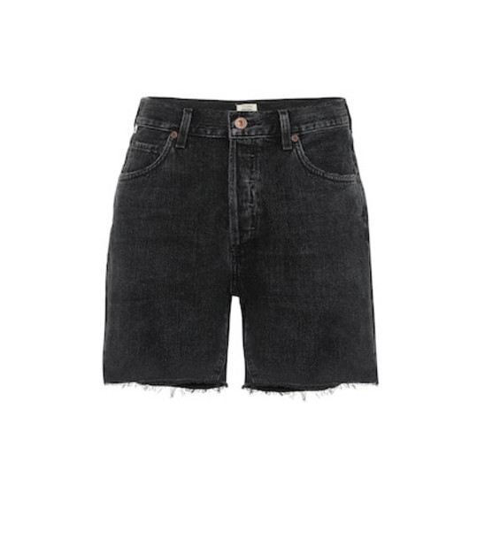 Citizens of Humanity Bailey high-rise denim shorts in black
