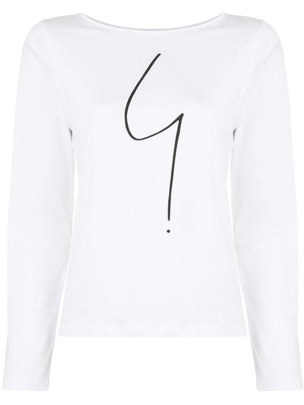 agnès b. Australie long-sleeved T-shirt in white