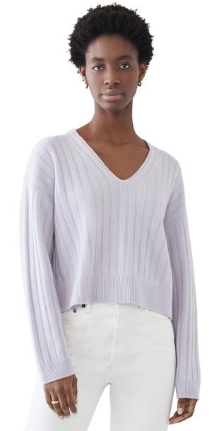 Sablyn Cashmere Pullover in lavender