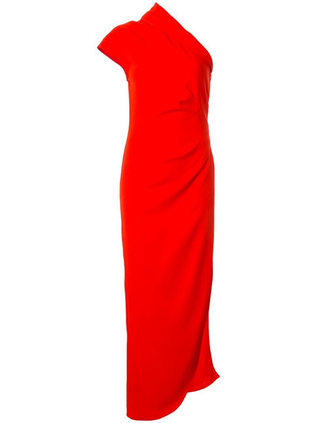Ginger & Smart Curator one-shoulder gown in red