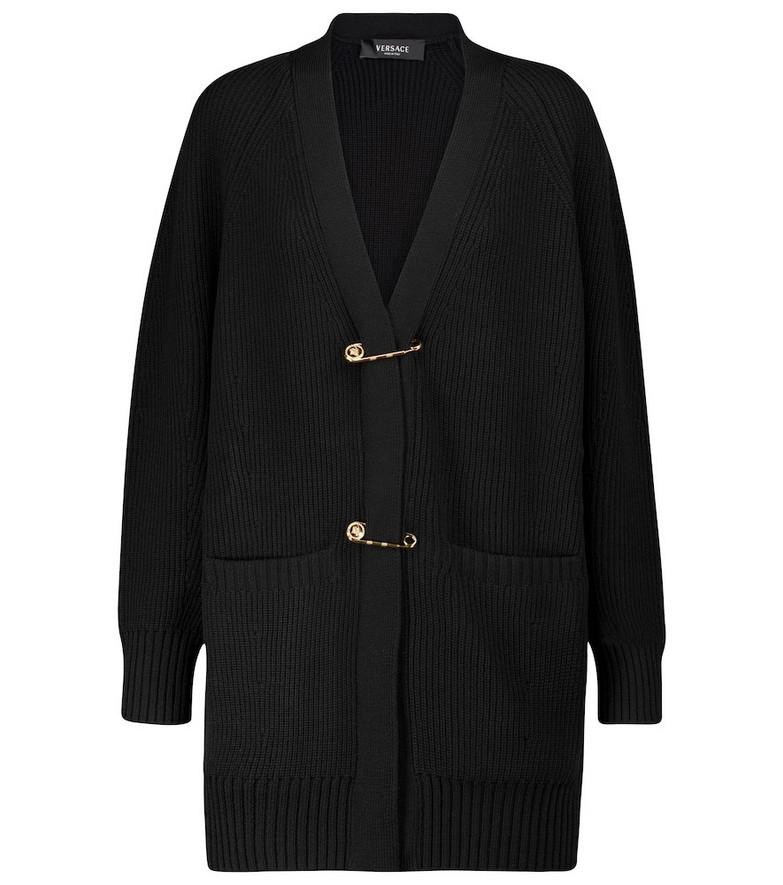 Versace Wool cardigan in black