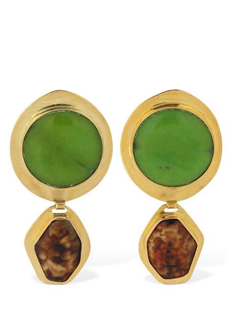 LIYA Caramel Apple Earrings in gold / multi