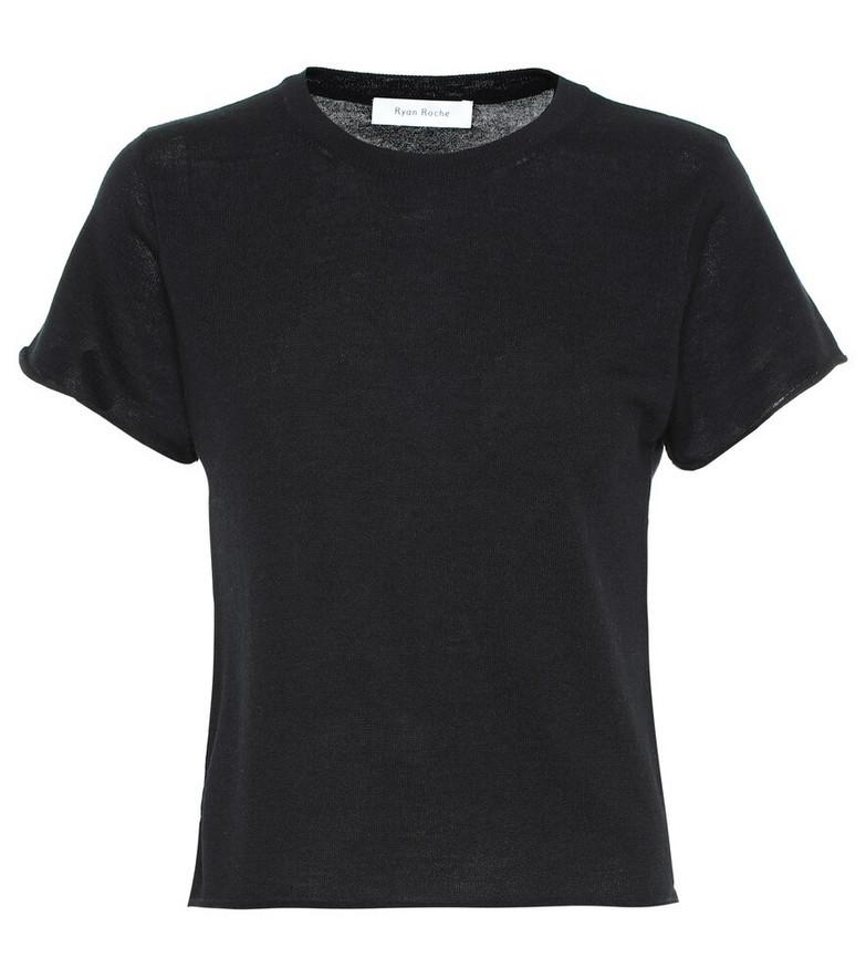 Ryan Roche Cashmere T-shirt in black