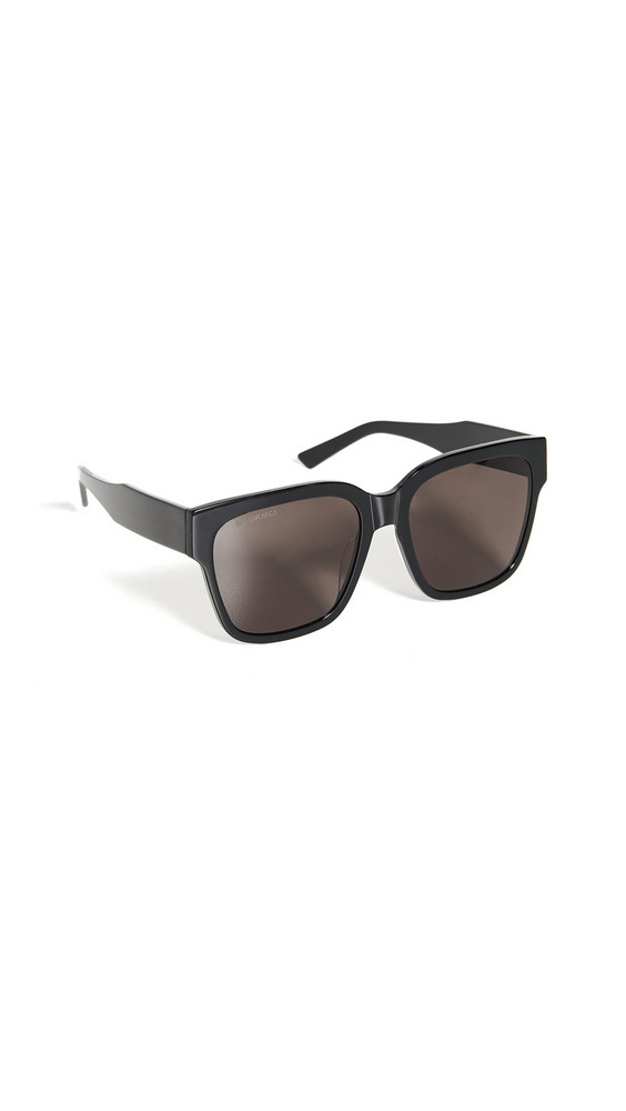 Balenciaga Flat Square Sunglasses in black / gray