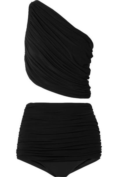 Norma Kamali - Diana And Bill One-shoulder Ruched Bikini - Black