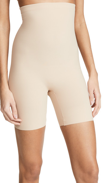 Commando Classic Control High Rise Shorts in beige