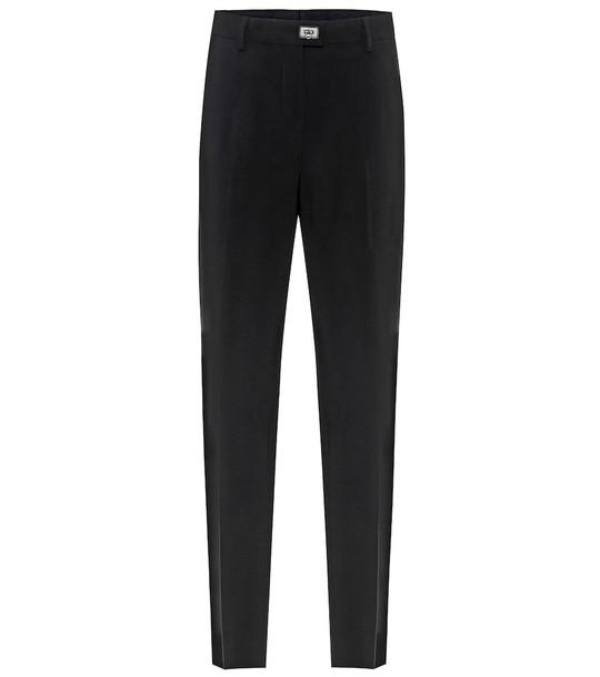 Salvatore Ferragamo High-rise straight pants in black