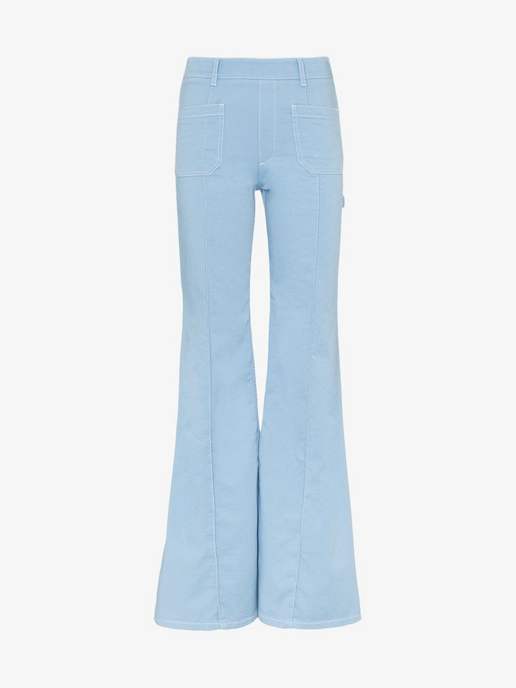 Chloé Chloé Pocket detail wide flared jeans in blue