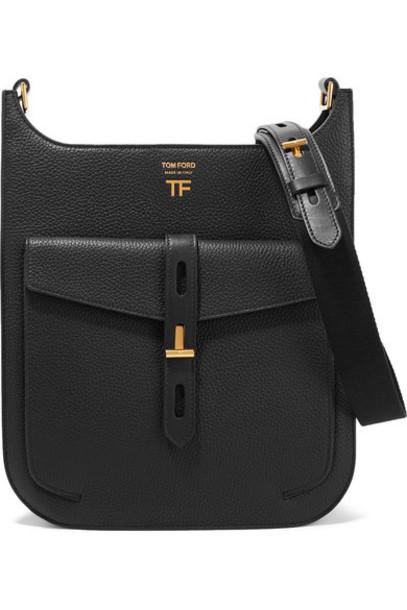 TOM FORD - T Twist Textured-leather Shoulder Bag - Black
