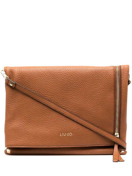 LIU JO logo plaque shoulder bag in brown