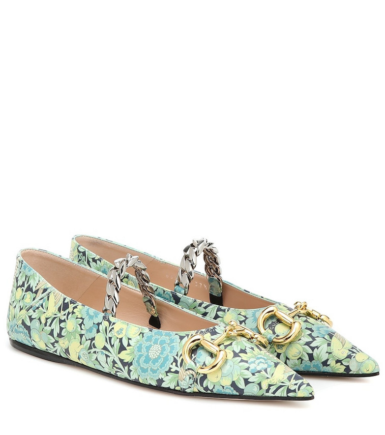 Gucci x Liberty floral ballet flats in blue