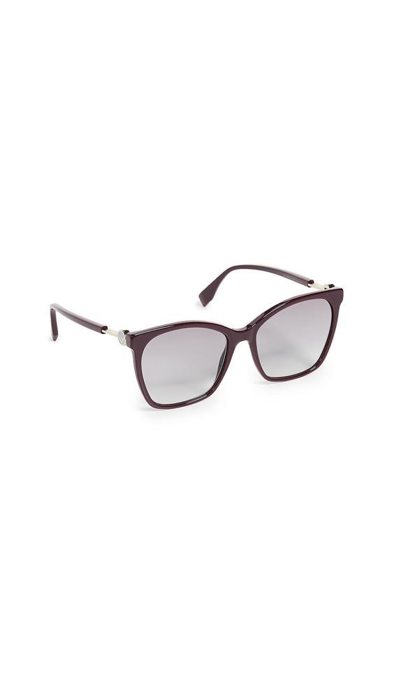 Fendi Classic Square Sunglasses in plum