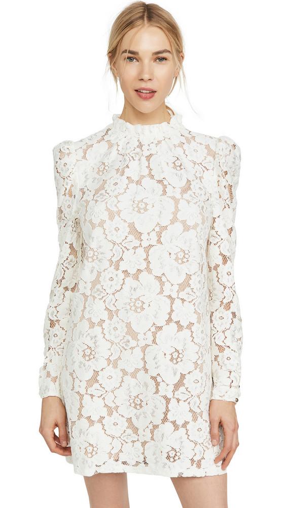 WAYF Emma Puff Sleeve Dress in ivory