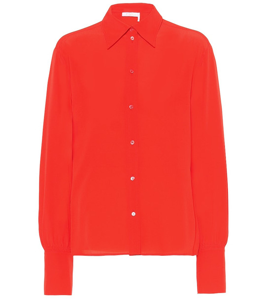 Chloé Silk blouse in orange