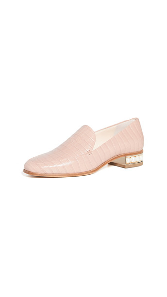Nicholas Kirkwood 25mm Casati Moccasin Loafers in blush