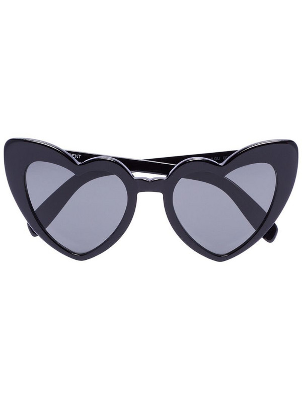 Saint Laurent Eyewear Loulou heart sunglasses in black