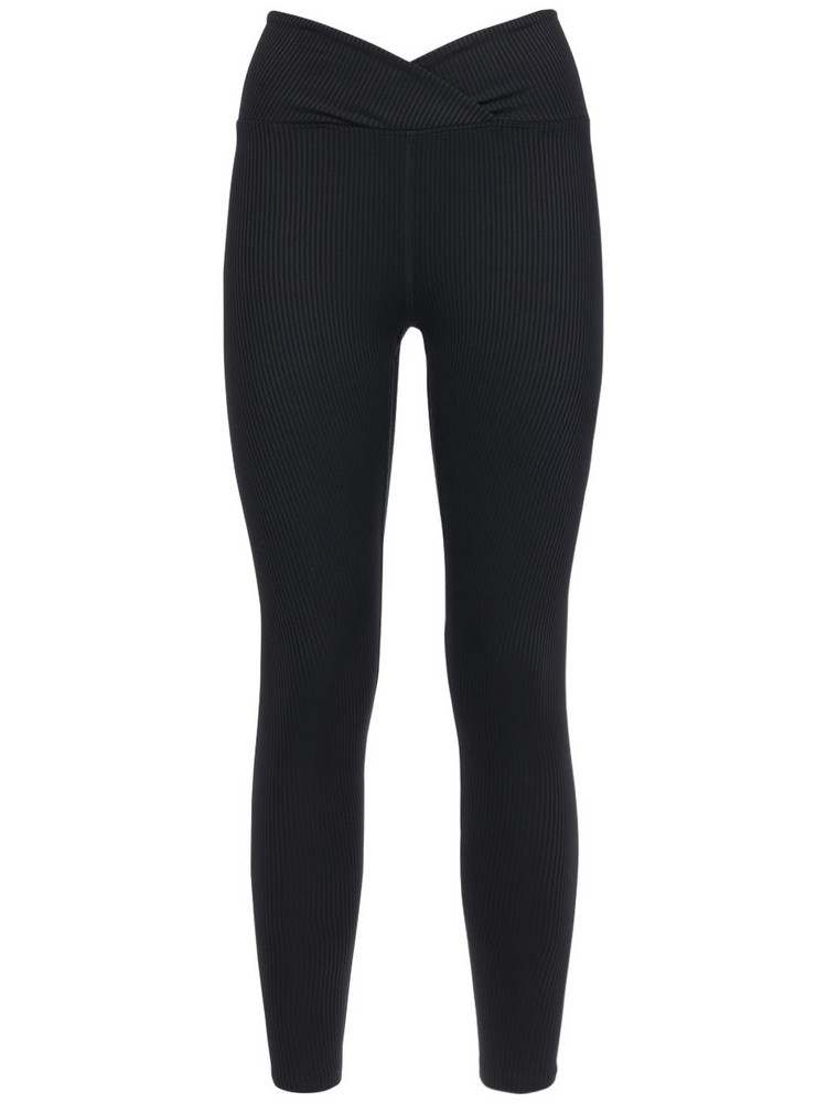 YEAR OF OURS Veronica Ribbed Leggings in black