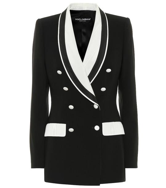 Dolce & Gabbana Stretch wool and silk blazer in black