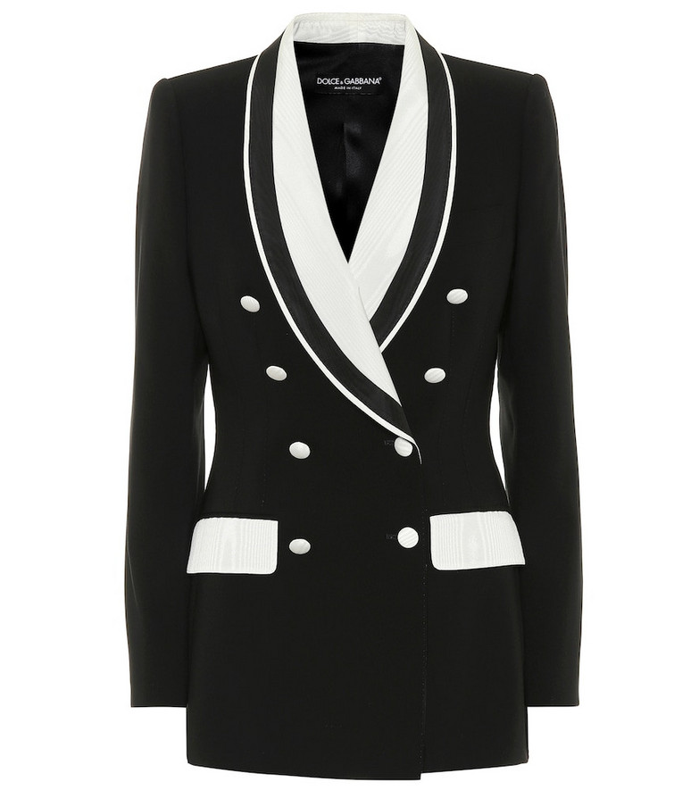 Dolce & Gabbana Stretch wool and silk blazer in black