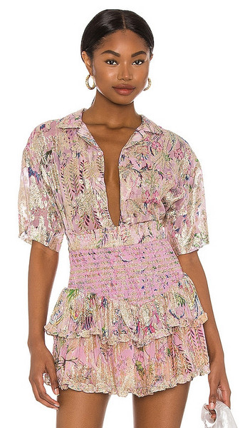HEMANT AND NANDITA Nila Oversized Shirt in Lavender in lilac