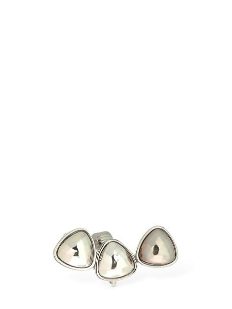 GIULIANA MANCINELLI BONAFACCIA 3 Stone Clip-on Mono Earring in silver