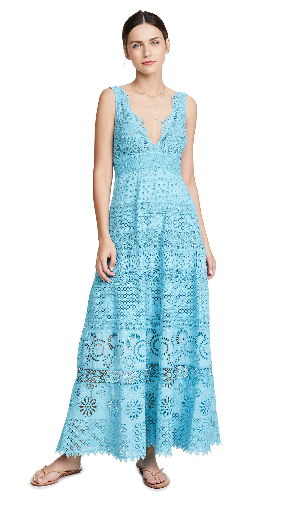 Temptation Positano L'Aquila Maxi Dress in teal