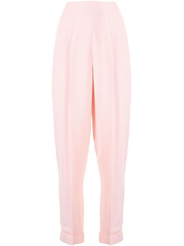 Delpozo crepe carrot let trousers in pink