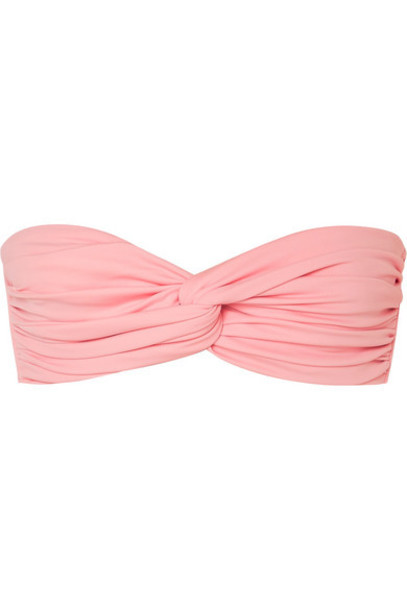 Norma Kamali - Johnny D Ruched Bandeau Bikini Top - Bubblegum