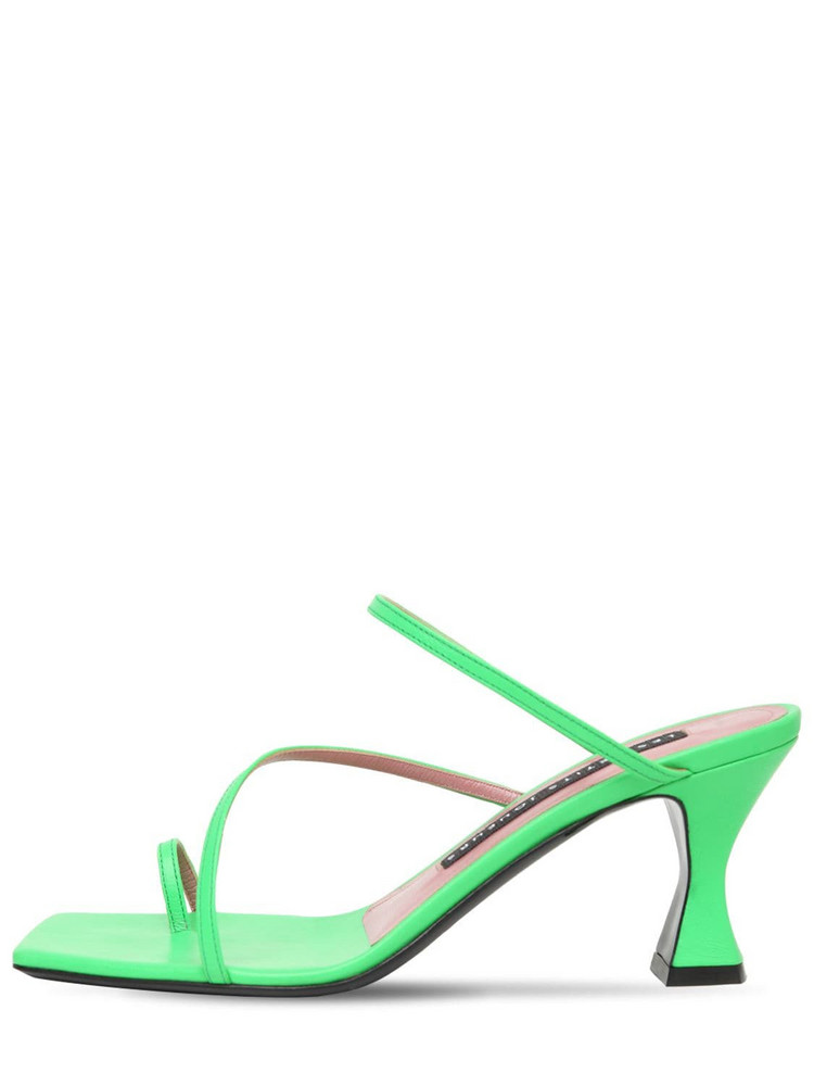 LES PETITS JOUEURS 70mm Amanda Leather Thong Sandals in green