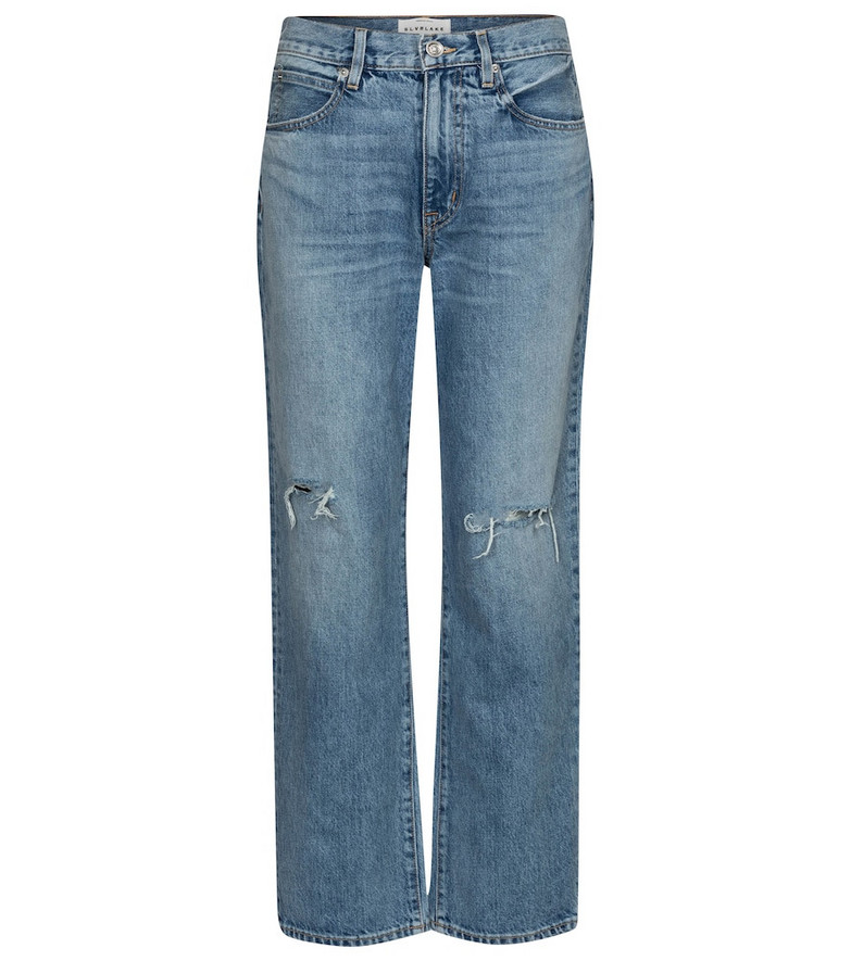 Slvrlake Sophie high-rise straight jeans in blue