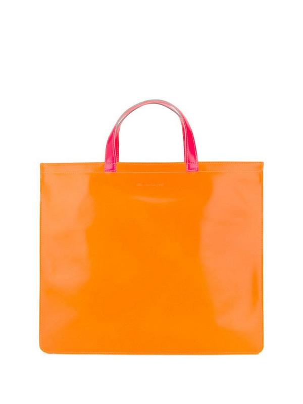 Comme Des Garçons Wallet colour-block tote bag in orange