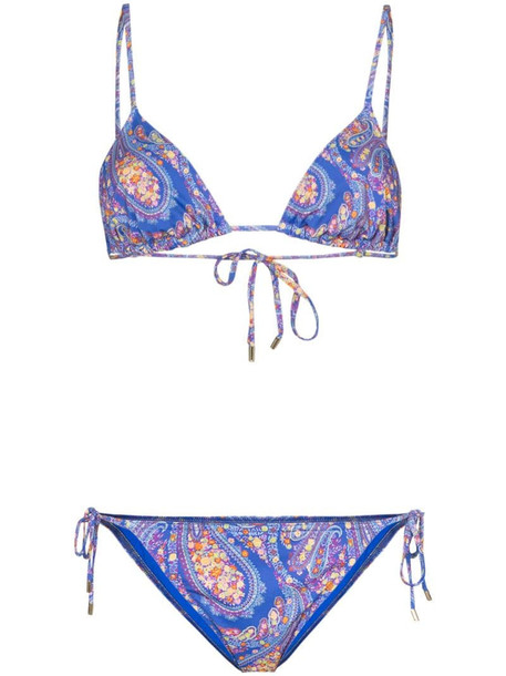 Etro paisley print bikini in blue