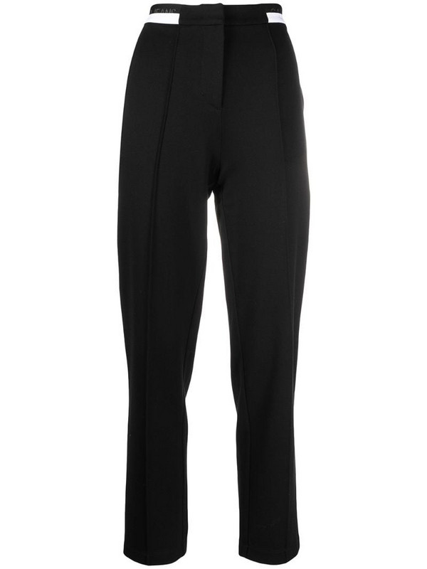 Calvin Klein Jeans monochrome tapered trousers in black