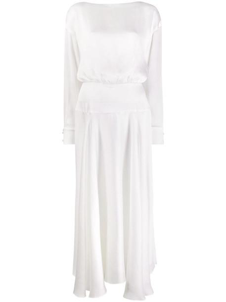 Galvan Majorelle cocktail dress in white