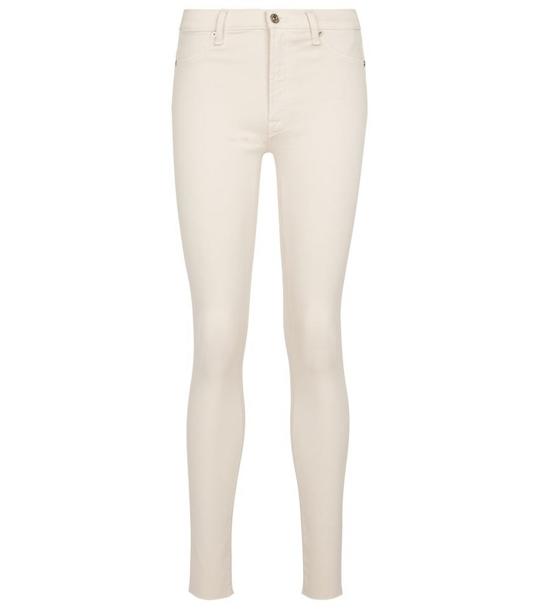 7 For All Mankind Skinny Crop Slim Illusion jeans in white