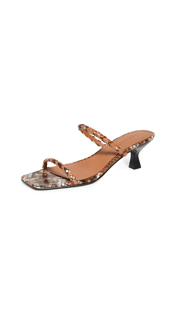 Sigerson Morrison Abnel Sandals in tan / multi