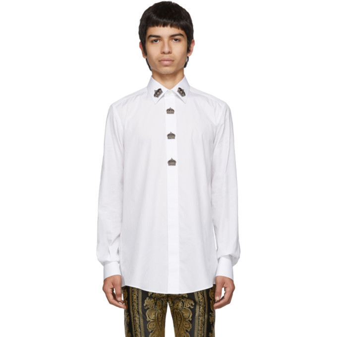 Dolce and Gabbana Dolce & Gabbana White Crown Shirt