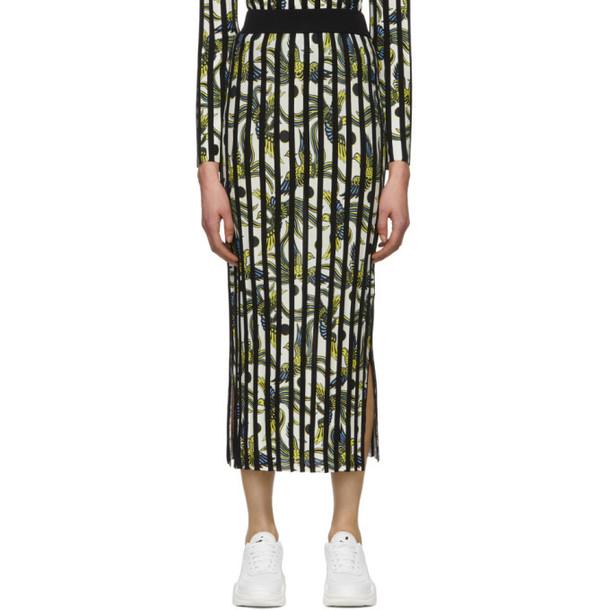 Kenzo White Ribbed Skirt