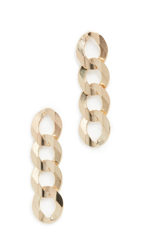 LANA JEWELRY 14k Curb Chain Earrings in gold / yellow