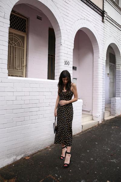 mademoiselle blogger dress shoes bag jewels