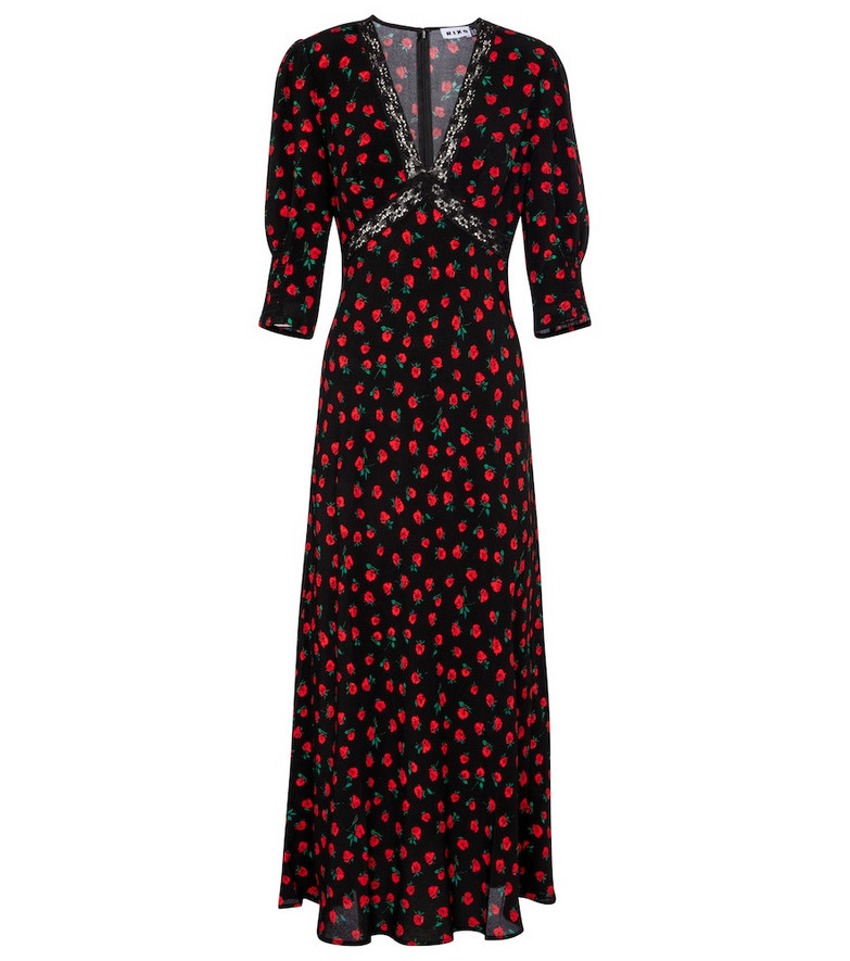Rixo Gemma floral maxi dress in black