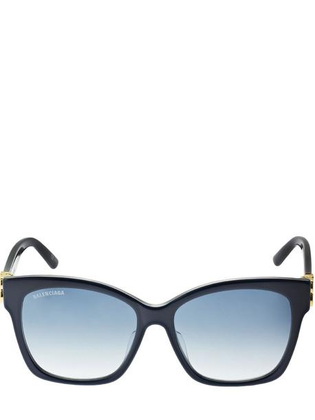 BALENCIAGA Dynasty Round Acetate Sunglasses in blue