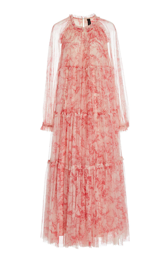 Needle & Thread Toile de Jouy Printed Tulle Gown in multi