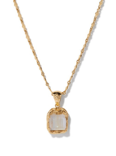 Jade Jagger - Pope Moonstone & 18kt Gold Necklace - Womens - Gold Multi