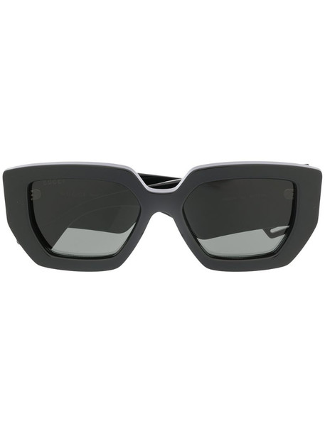Gucci Eyewear square frame sunglasses in black