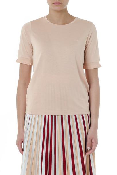 Fay Light Pink Basic Cotton & Viscose T-shirt
